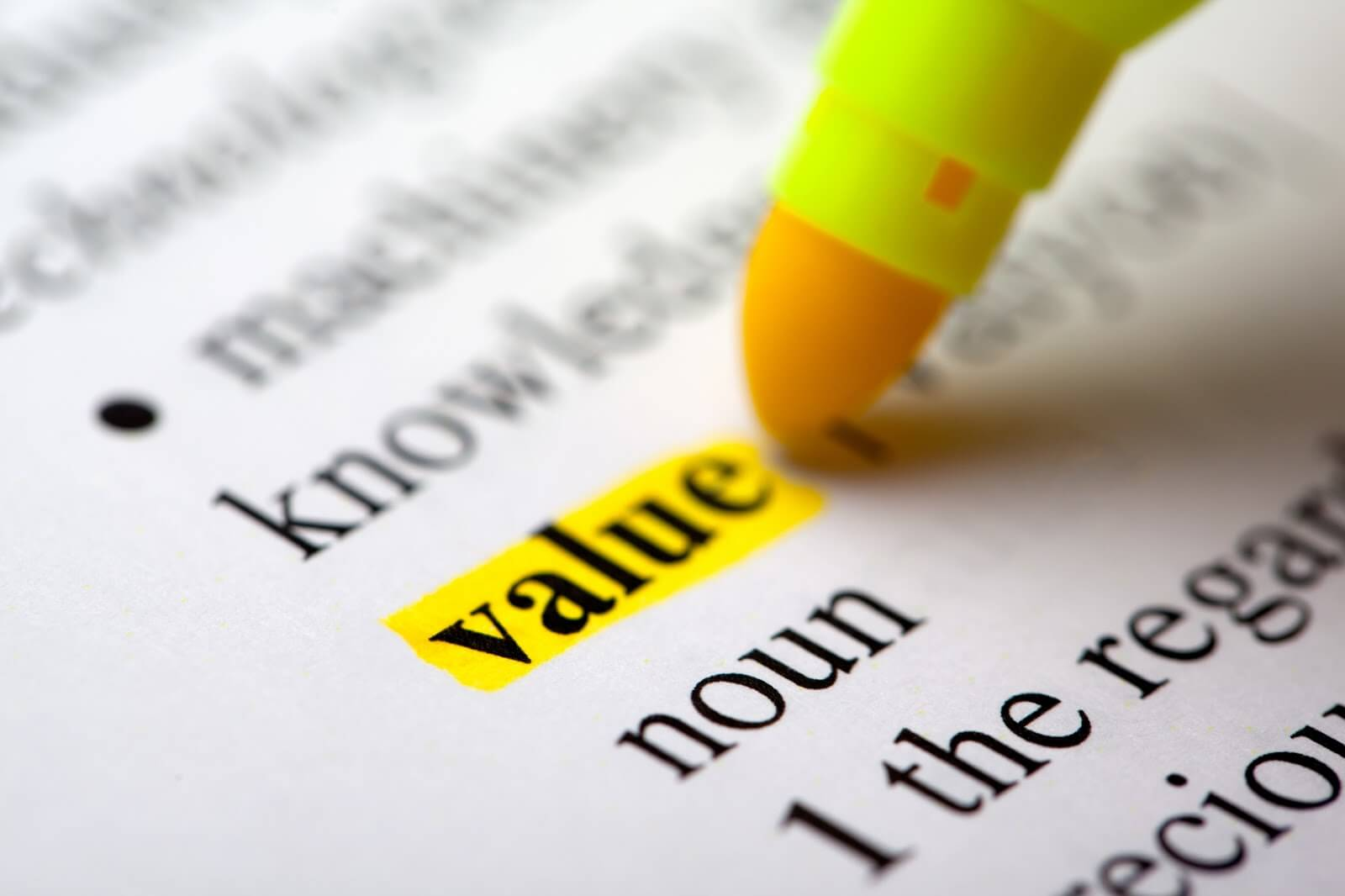 When did value start to mean cheap?