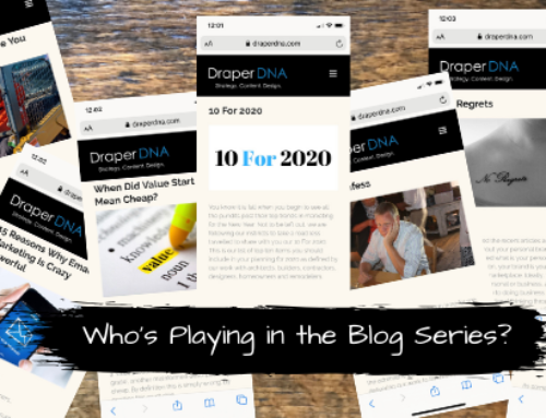 Who's Playing in the Blog Series?