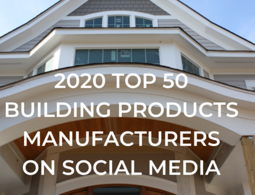 2020 Top 50 Building Products Manufacturers on Social Media